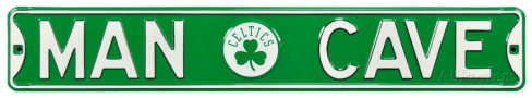 "Boston Celtics 6"" x 36"" Man Cave Steel Street Sign"