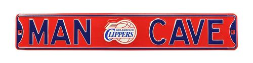 "Los Angeles Clippers 6"" x 36"" Man Cave Steel Street Sign"