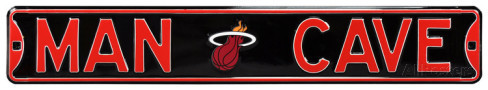 "Miami Heat 6"" x 36"" Man Cave Steel Street Sign"