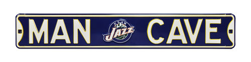 "Utah Jazz 6"" x 36"" Man Cave Steel Street Sign"