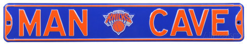 "New York Knicks 6"" x 36"" Man Cave Steel Street Sign"