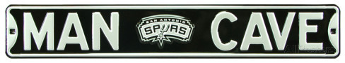 "San Antonio Spurs 6"" x 36"" Man Cave Steel Street Sign"