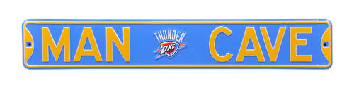 "Oklahoma City Thunder 6"" x 36"" Man Cave Steel Street Sign"