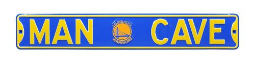 "Golden State Warriors 6"" x 36"" Man Cave Steel Street Sign"