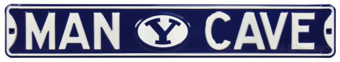 "BYU Cougars 6"" x 36"" Man Cave Steel Street Sign"