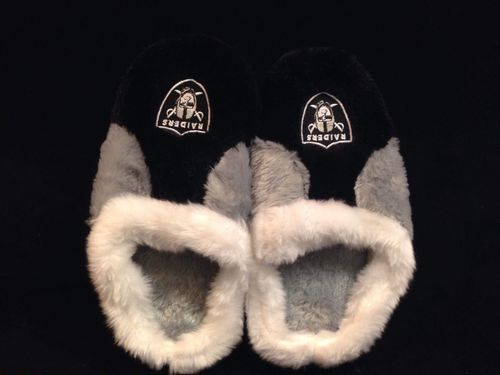 Oakland Raiders Youth Slippers
