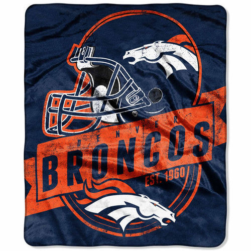 "Denver Broncos 50"" x 60"" Grand Stand Plush Blanket"