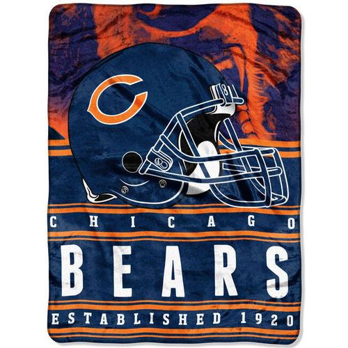 "Chicago Bears 60"" x 80"" Stacked Silk Touch Plush Blanket"