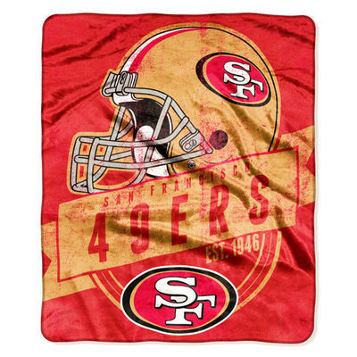 "San Francisco 49ers 50"" x 60"" Grand Stand Plush Blanket"