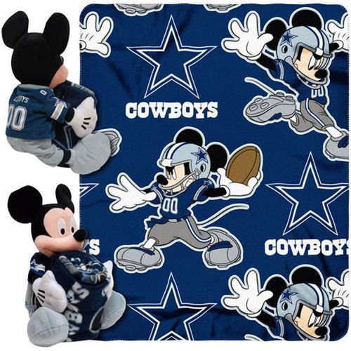 Dallas Cowboys Mickey Mouse Uniform Hugger Blanket