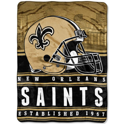 "New Orleans Saints 60"" x 80"" Stacked Silk Touch Plush Blanket"