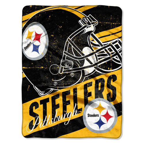 "Pittsburgh Steelers 46"" x 60"" Deep Slant Micro Raschel Plush Blanket"