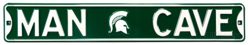 "Michigan State Spartans 6"" x 36"" Man Cave Steel Street Sign"