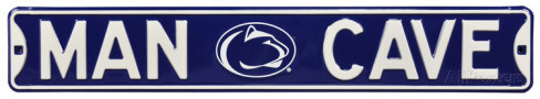 "Penn State Nittany Lions 6"" x 36"" Man Cave Steel Street Sign"