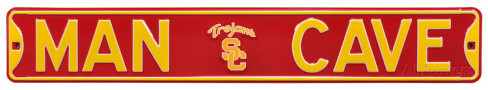 "USC Trojans 6"" x 36"" Man Cave Steel Street Sign"