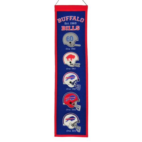 "Buffalo Bills Wool 8"" x 32"" Heritage Banner"