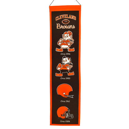 "Cleveland Browns Wool 8"" x 32"" Heritage Banner"