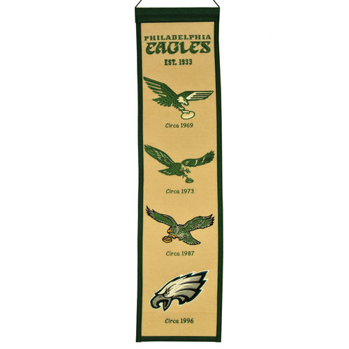 "Philadelphia Eagles Wool 8"" x 32"" Heritage Banner"