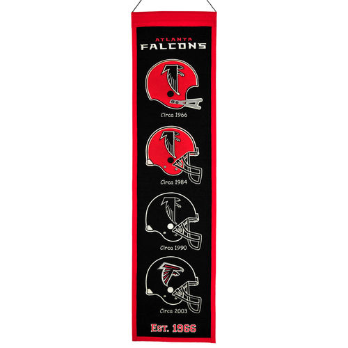 "Atlanta Falcons Wool 8"" x 32"" Heritage Banner"