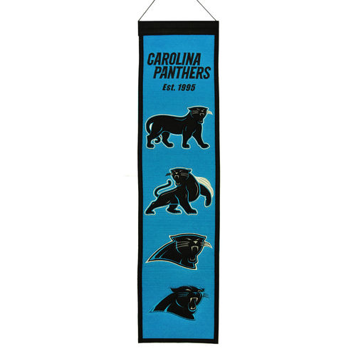 "Carolina Panthers Wool 8"" x 32"" Heritage Banner"