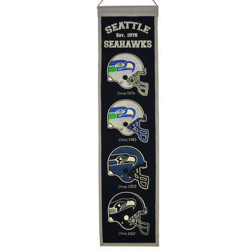"Seattle Seahawks Wool 8"" x 32"" Heritage Banner"
