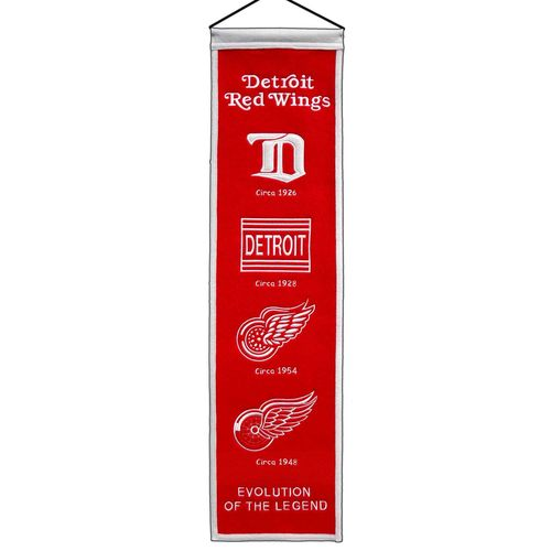 "Detroit Red Wings Wool 8"" x 32"" Heritage Banner"