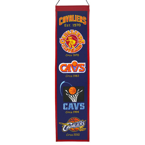 "Cleveland Cavaliers Wool 8"" x 32"" Heritage Banner"
