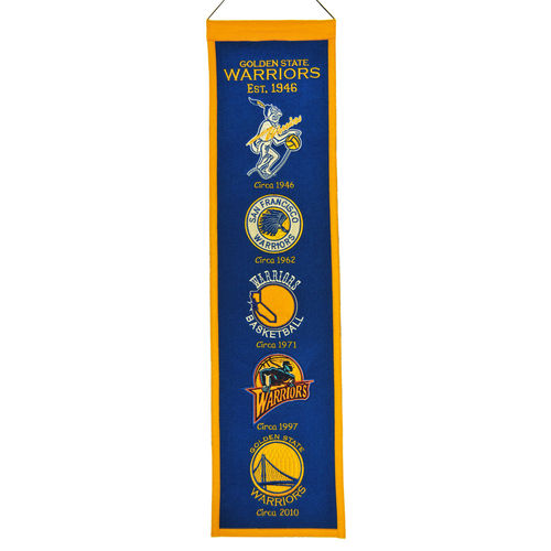 "Golden State Warriors Wool 8"" x 32"" Heritage Banner"