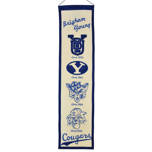 "BYU Cougars Wool 8"" x 32"" Heritage Banner"