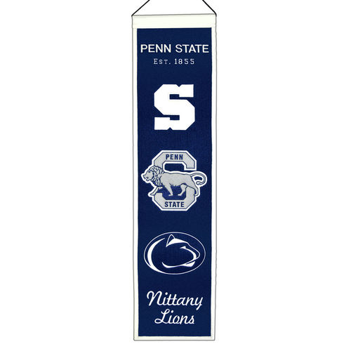 "Penn State Nittany Lions Wool 8"" x 32"" Heritage Banner"