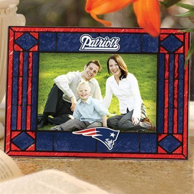 New England Patriots Art Glass Picture Frame