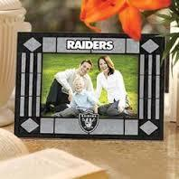 Oakland Raiders Art Glass Picture Frame