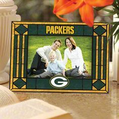 Green Bay Packers Art Glass Picture Frame