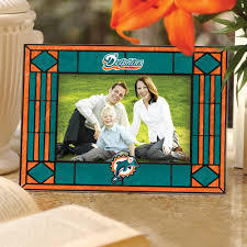 Miami Dolphins Art Glass Picture Frame