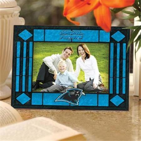 Carolina Panthers Art Glass Picture Frame