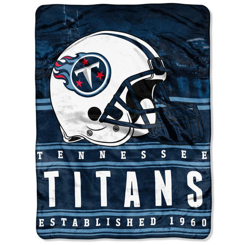 "Tennessee Titans 60"" x 80"" Stacked Silk Touch Plush Blanket"