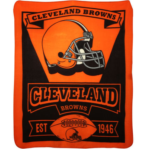 Cleveland Browns 50'' x 60'' Marquis Fleece Throw Blanket - Orange