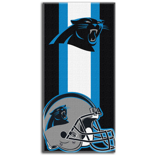 Carolina Panthers Northeast Company Zone Read Beach Towel