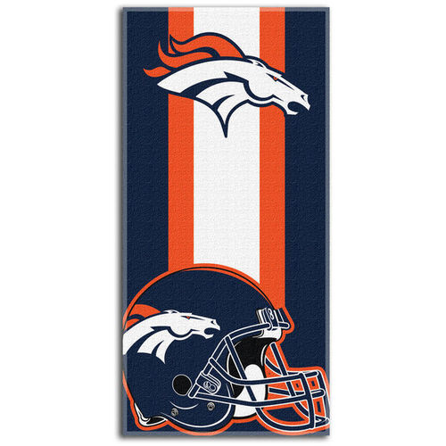 Denver Broncos Northeast Company Zone Read Beach Towel
