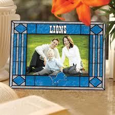 Detroit Lions Art Glass Picture Frame