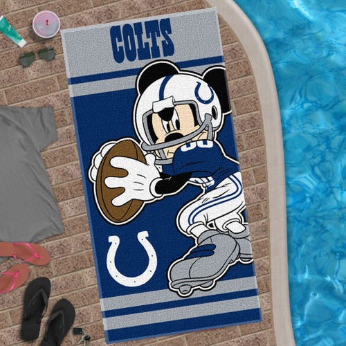 Indianapolis Colts Mickey Quarterback 30'' x 60'' Beach Towel - Royal Blue