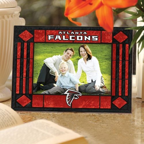 Atlanta Falcons Art Glass Picture Frame