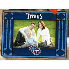 Tennessee Titans Art Glass Picture Frame