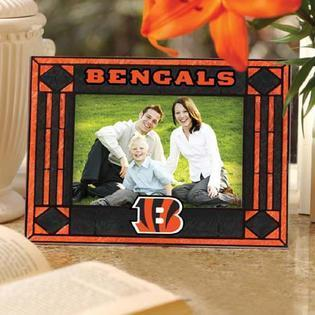 Cincinnatti Bengals Art Glass Picture Frame