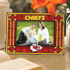 Kansas City Chiefs Art Glass Picture Frame