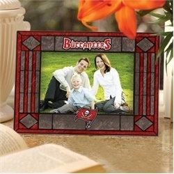 Tampa Bay Buccaneers Art Glass Picture Frame