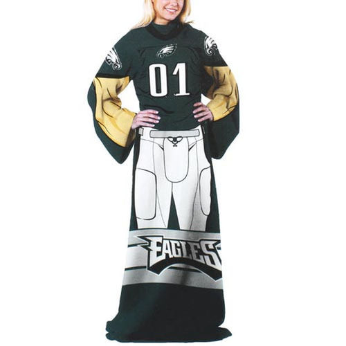 Philadelphia Eagles Unisex Player Comfy Throw - Midnight Green