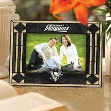 Pittsburgh Penguins Art Glass Picture Frame