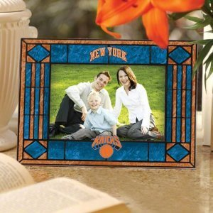 New York Knicks Art Glass Picture Frame