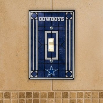 Dallas Cowboys Art Glass Switch Plate